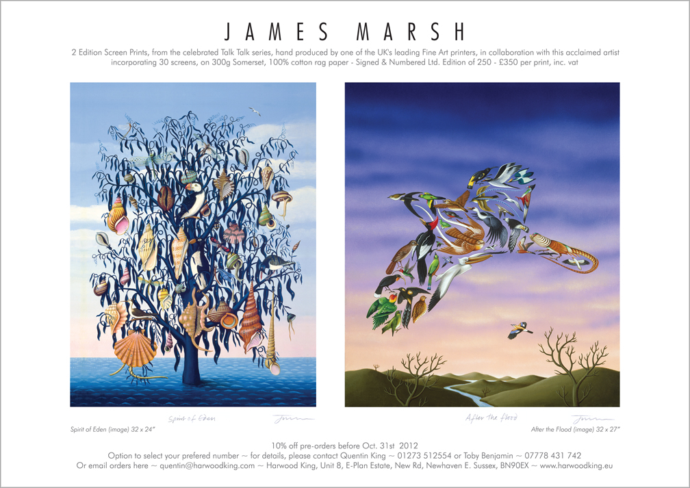 Interview with James Marsh on his album cover work for Talk