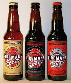Tom Nikosey - Firemen's Brew logo design