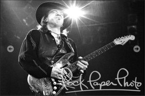 Stevie Ray Vaughan, photograph, Robert M Knight