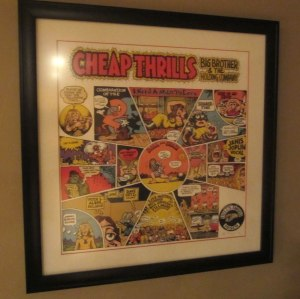 Big Brother, Janis Joplin, Cheap Thrills, album cover R. Crumb