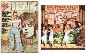 Jonathan Kelly, David Bowie, Cream, David Larkham, Elton John, Goodbye Yellow Brick Road, album cover, album cover art, record sleeve, Ian Beck, interview, Mike Goldstein, Album Cover Hall of Fame