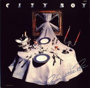 Paul Wakefield, City Boy, Dinner at the Ritz, album cover, record cover, record sleeve