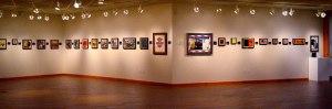 Album art near exhibition's exit